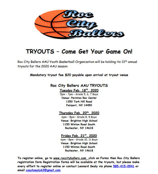Roc City Tryouts